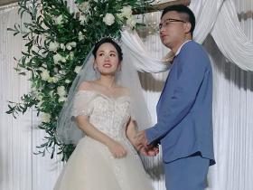 恭喜老弟、弟媳(叶苹、梁萧)新婚大喜!