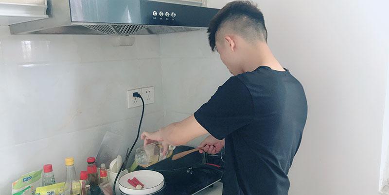 为心爱的老婆做菜