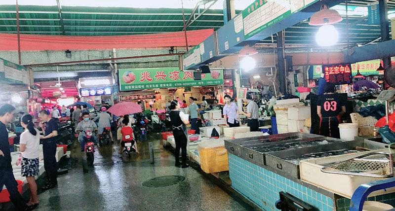 去菜市场买菜